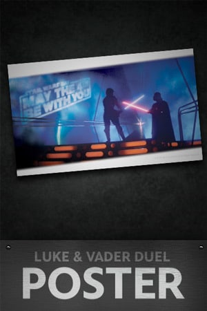 Star Wars: May the 4th Luke and Vader Duel Poster