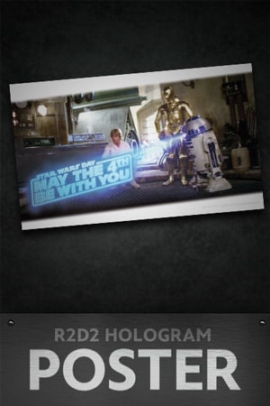 Star Wars: May the 4th R2D2 Hologram Poster