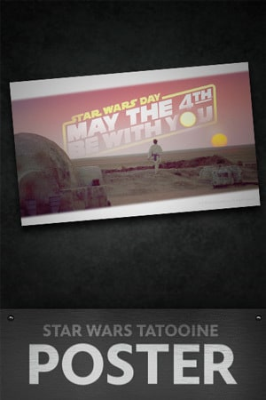 Star Wars: May the 4th Tatooine Sunset Poster