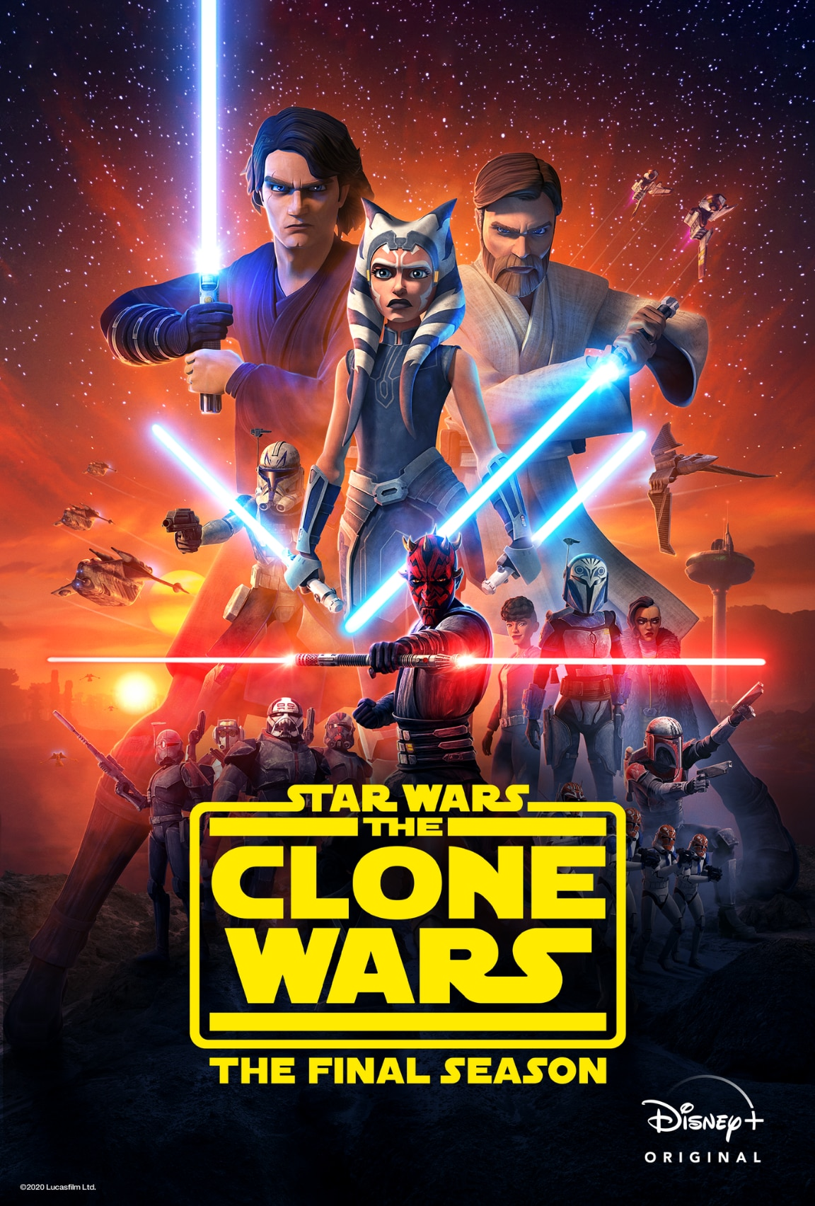 Star Wars The Clone Wars on Disney+