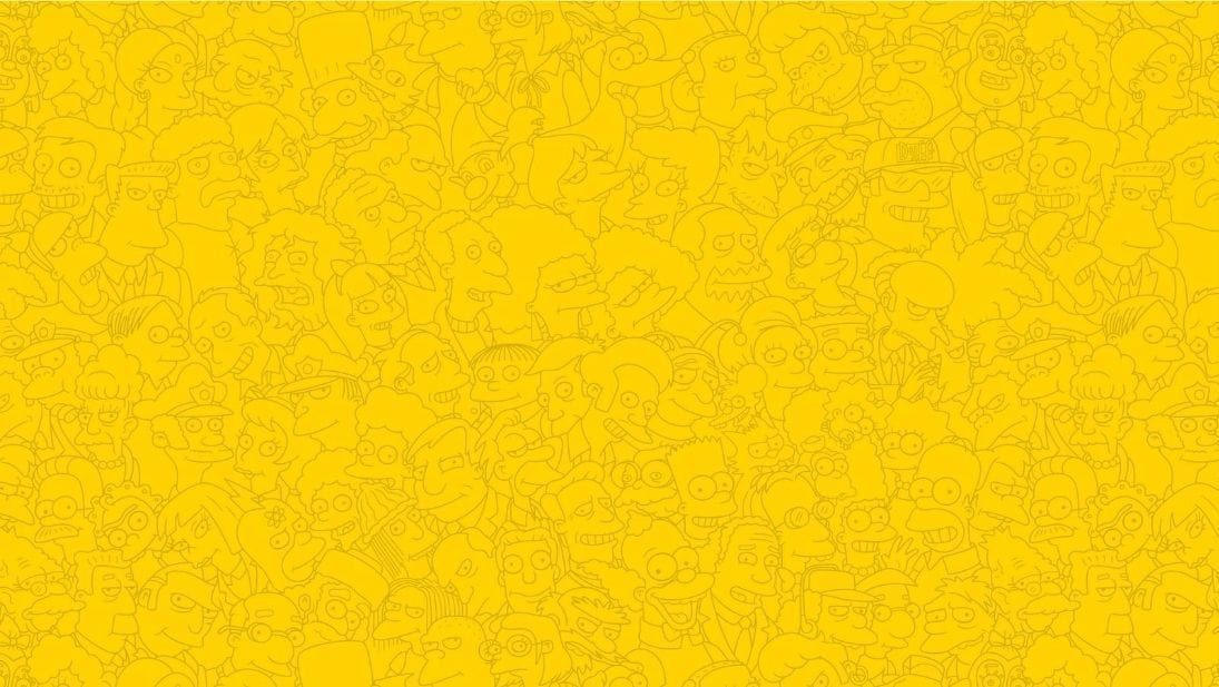 The Simpsons faces background