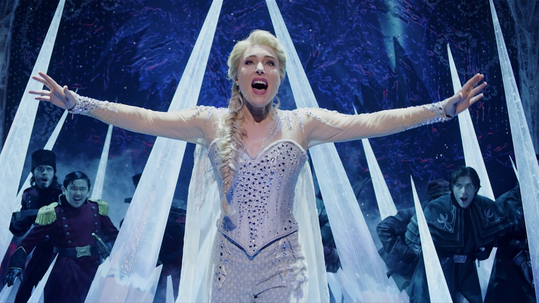 A still image from the Australian production of Frozen the Musical trailer