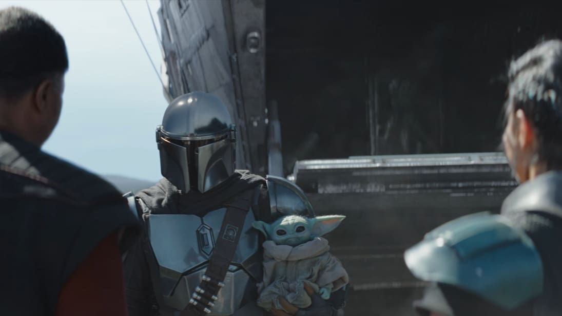 A still image from The Mandalorian Season 2