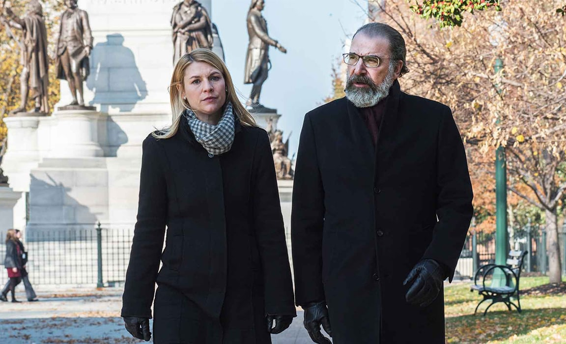 Claire Danes and Mandy Patinkin in Homeland on Disney Plus