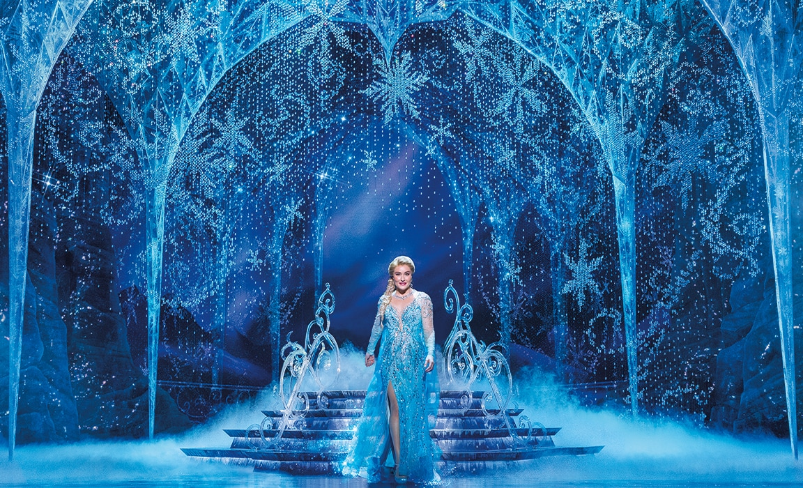 Jemma Rix as Elsa in Frozen the Musical (Photo by Lisa Tomasetti).