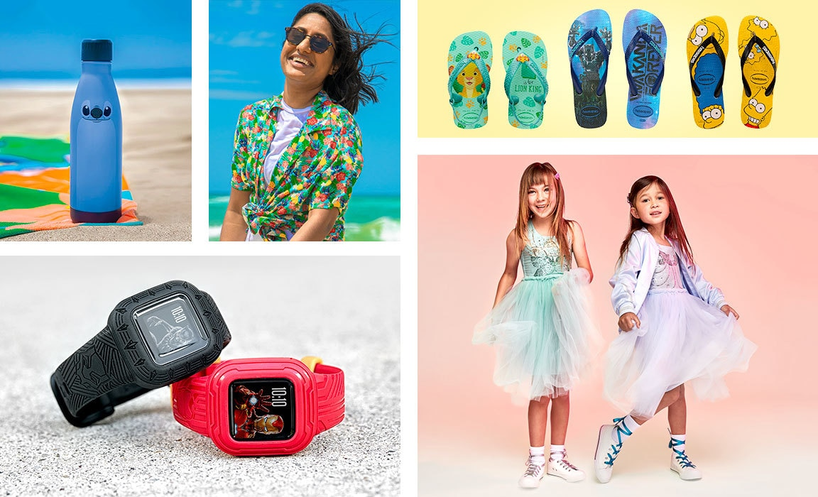Compile of products from Disney's Christmas gift guide for those who love summer.