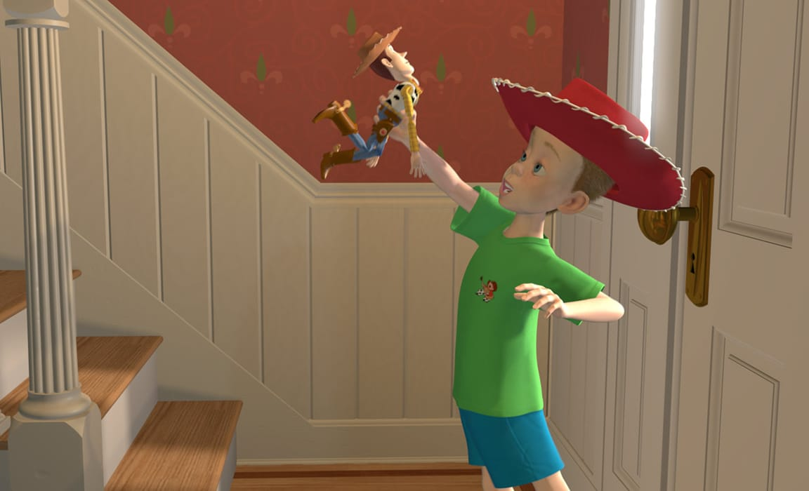 Woody and Andy from Toy Story (1995)