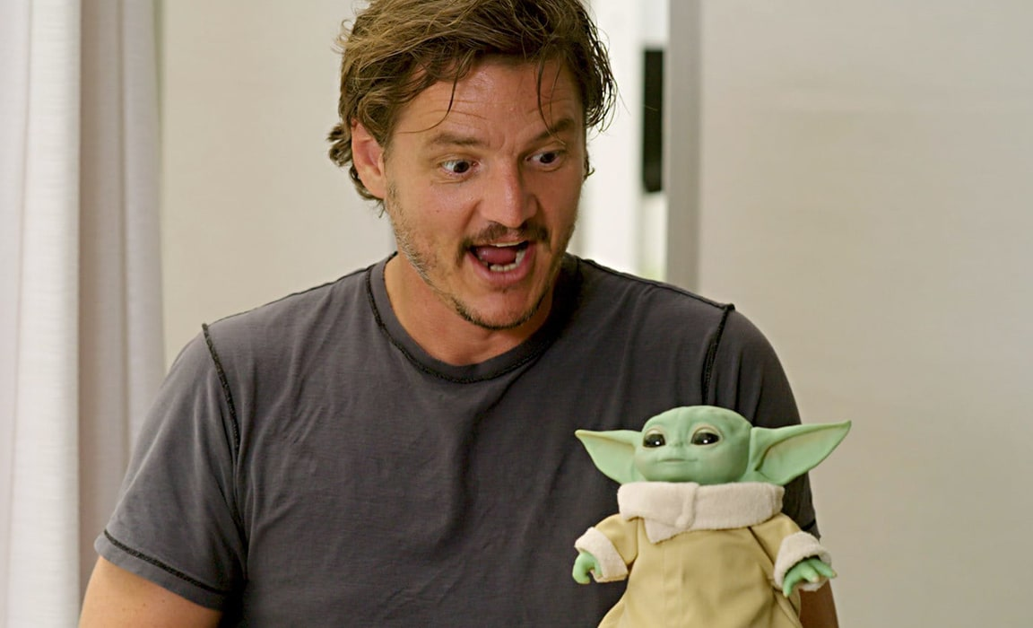 Actor Pedro Pascal launches the Mando Mondays event unveiling new products inspired by The Mandalorian