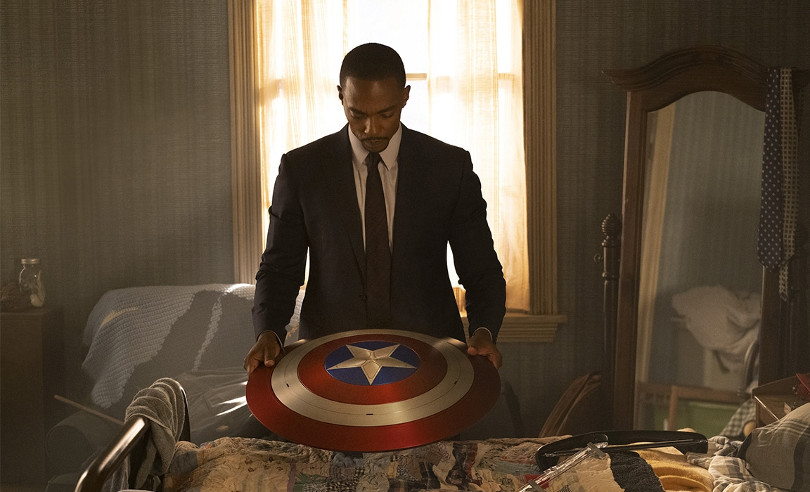 Sam Wilson AKA The Falcon from The Falcon and The Winter Soldier on Disney Plus