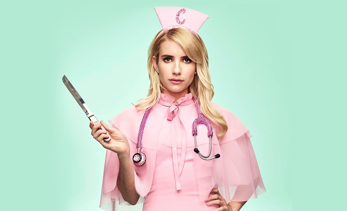 Emma Roberts in Scream Queens on Disney Plus