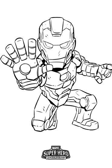 Iron Man Colouring Sheet