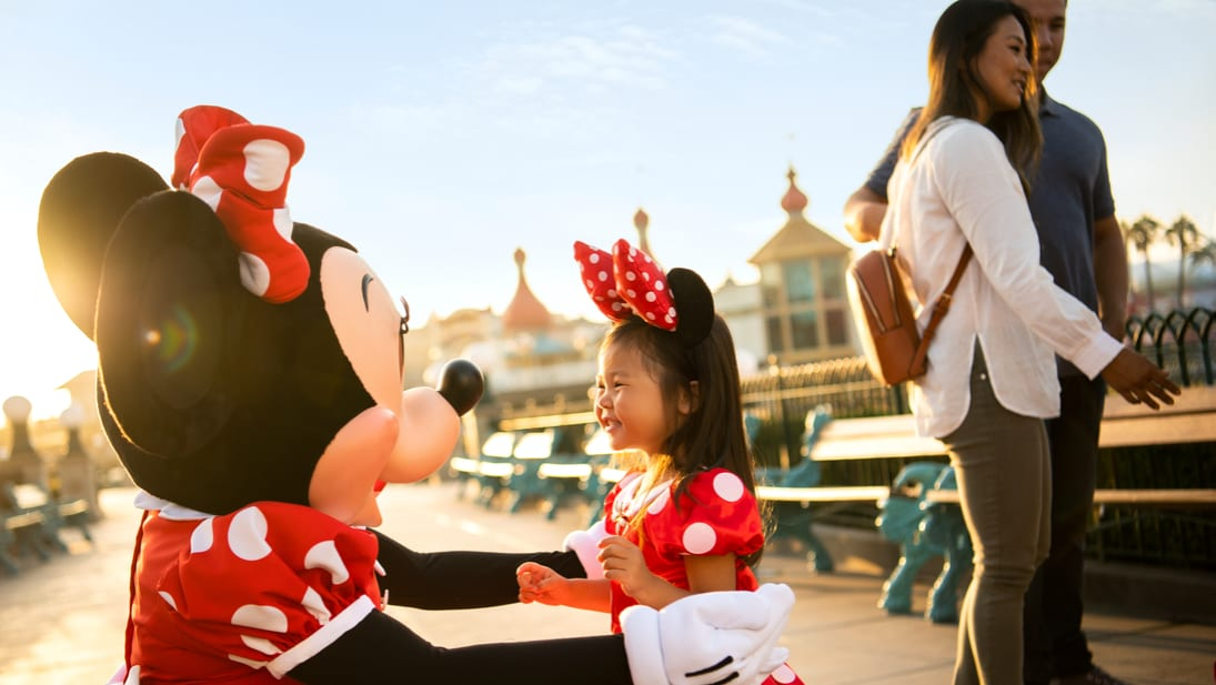 Minnie Mouse and friend
