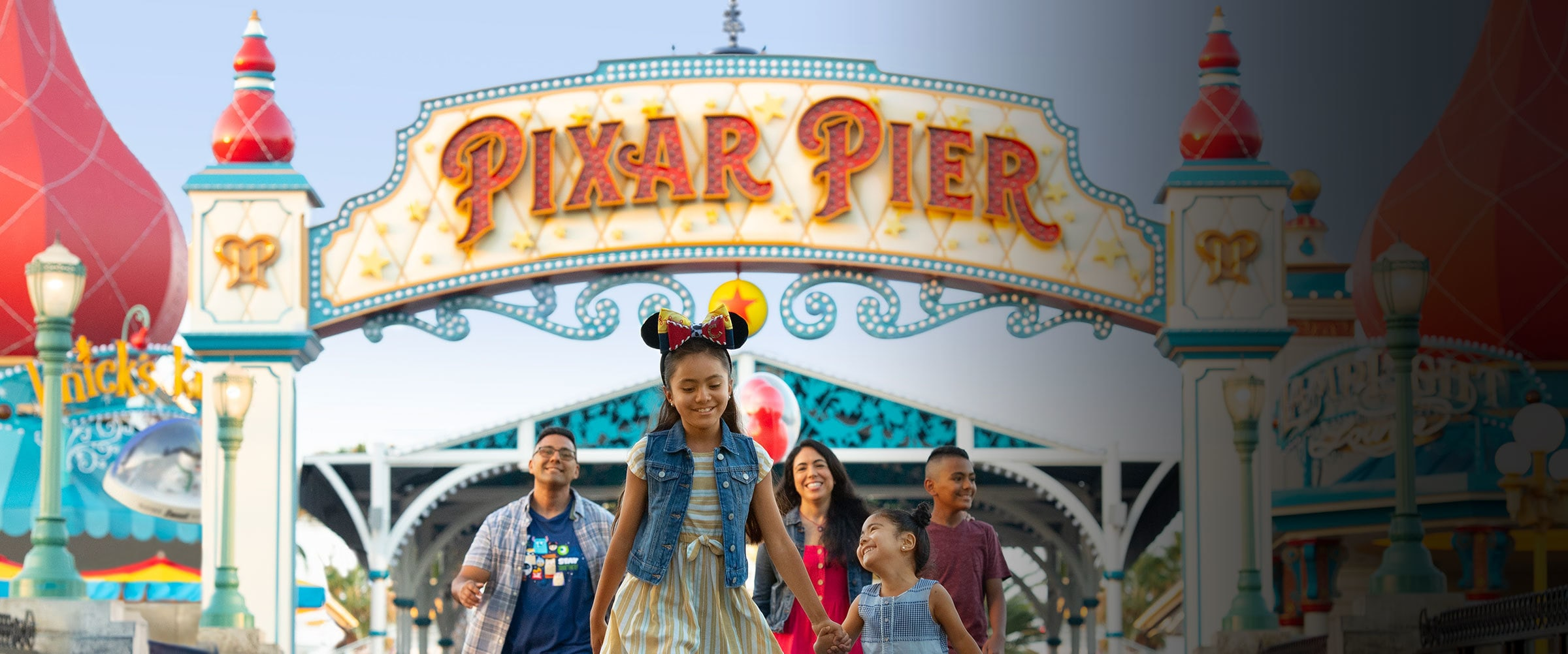 Disney Parks - California Adventure Pixar Pier - Homepage banner