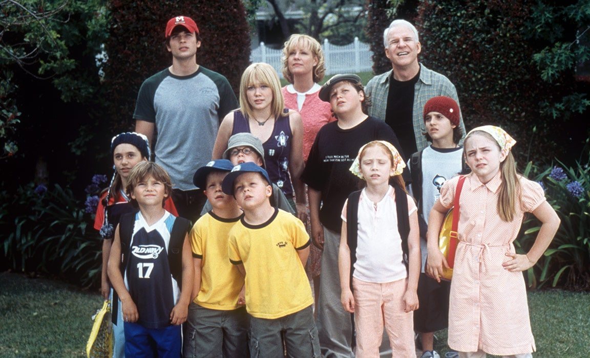 Steve Martin, Bonnie Hunt, Hilary Duff and other cast from Cheaper By the Dozen on Disney Plus