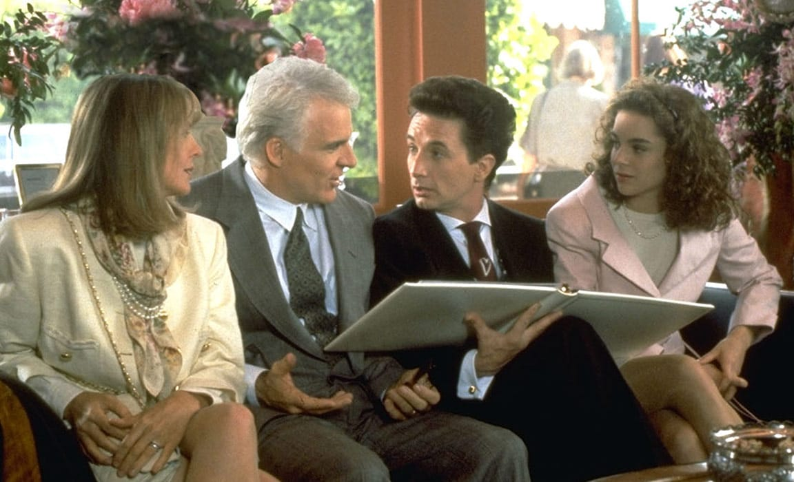 Diane Keaton, Steve Martin, Martin Short and Kimberly Williams in Father of the Bride on Disney Plus