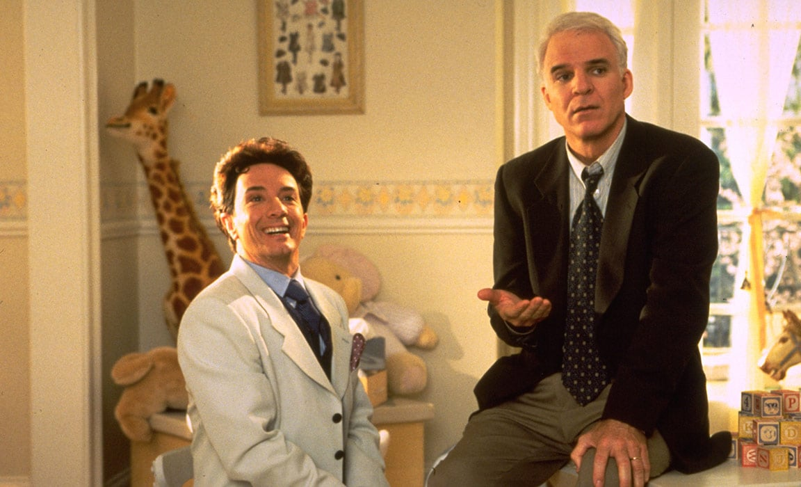 Martin Short and Steve Martin in Father of the Bride Part II on Disney Plus