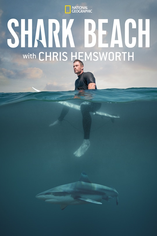 National Geographic's Shark Beach with Chris Hemsworth poster