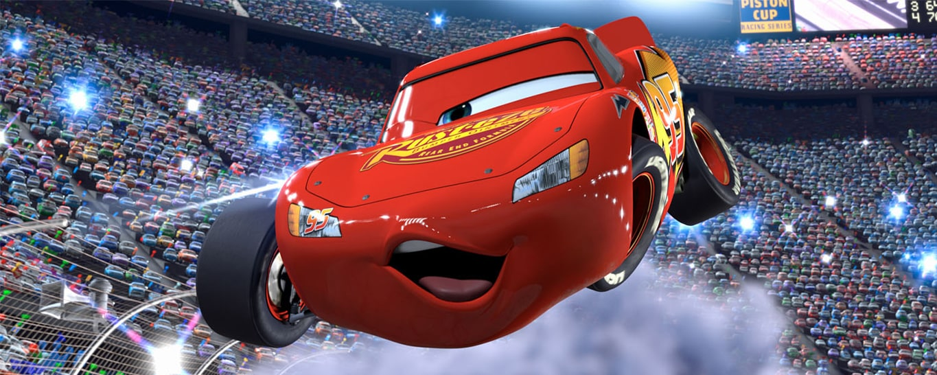 Lightning McQueen from Disney and Pixar's Cars movie
