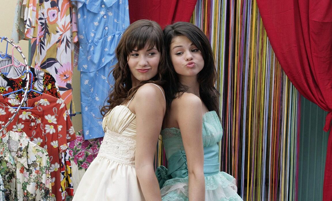 Demi Lovato and Selena Gomez in Princess Protection Program on Disney Plus