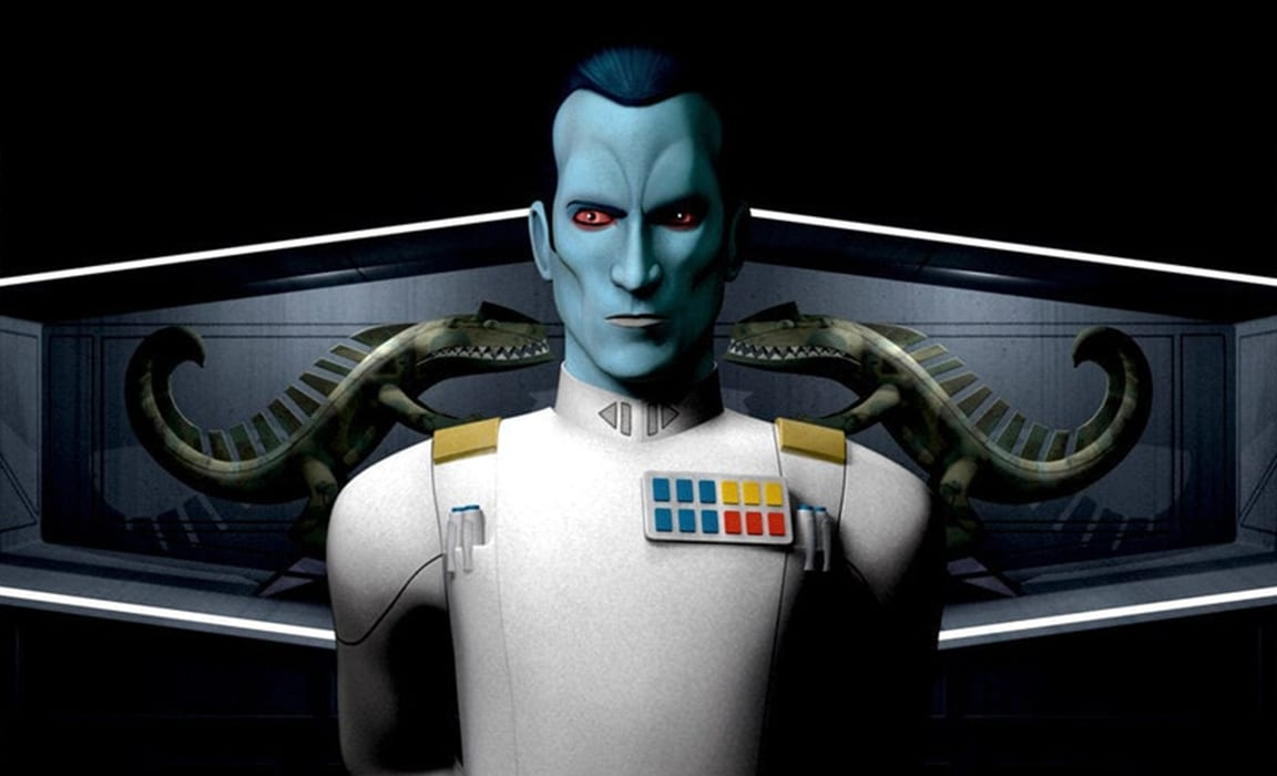 Grand Admiral Thrawn from Star Wars Rebels on Disney Plus