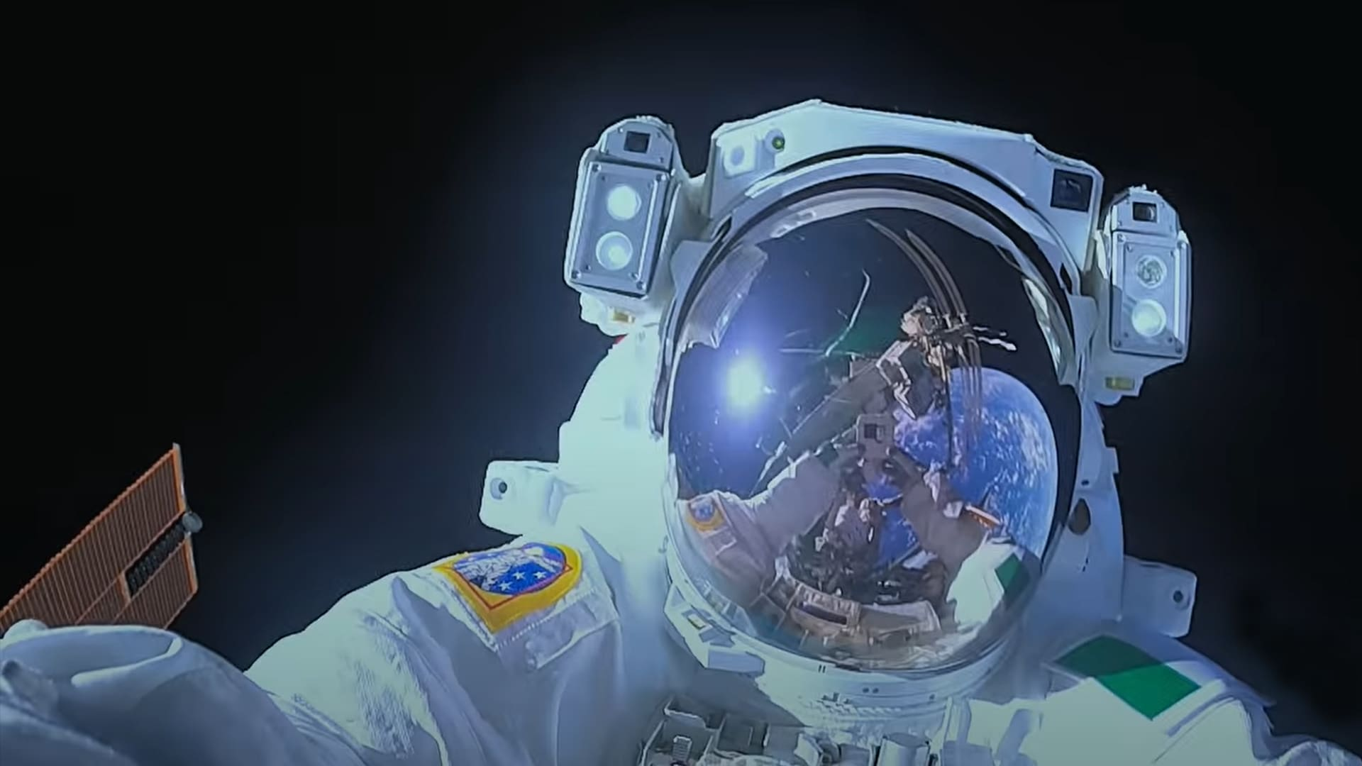 An astronaut in space from Among the Stars on Disney Plus