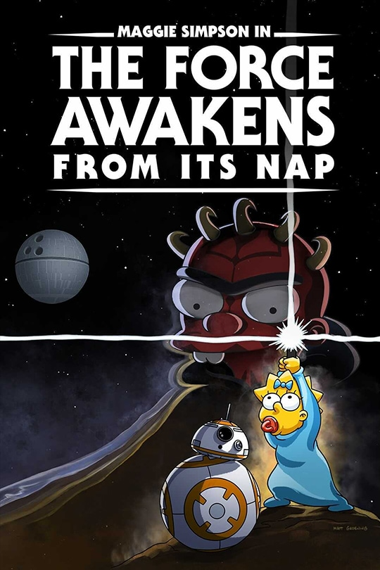 Maggie Simpson in The Force Awakens from its Nap poster