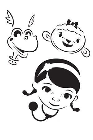Doc McStuffins Halloween Stencils