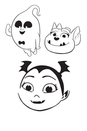 Vampirina Halloween Stencils