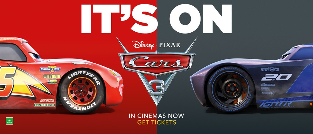 Cars 3 - Get Tickets - Post - Homepage - Static Hero - AU
