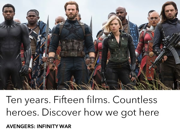 Ten years in the making. Discover how we got to Avengers: Infinity War