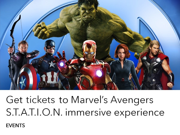 Marvel Avengers STATION - Get Tickets - Event Slider - Homepage AU
