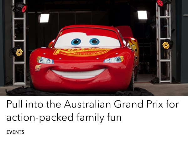 Disney Pixar Cars at the Australian Grand Prix