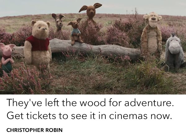 Get tickets to see Christopher Robin