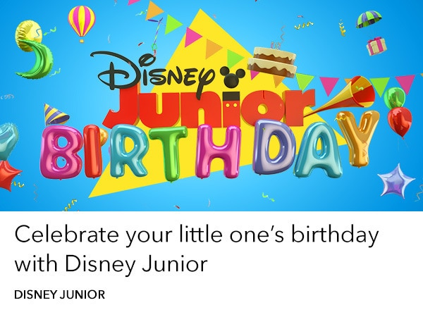 Disney Junior - home slider - Birthday Book