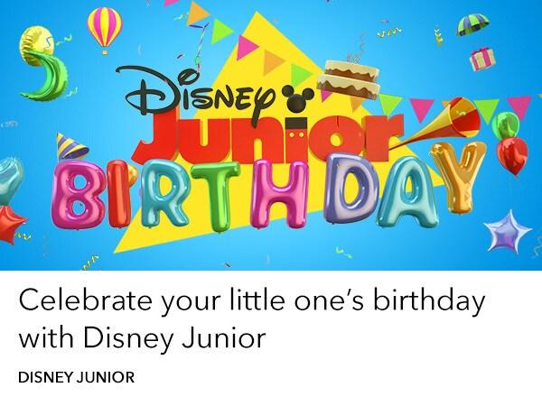 Disney Junior - home slider - Birthday Book
