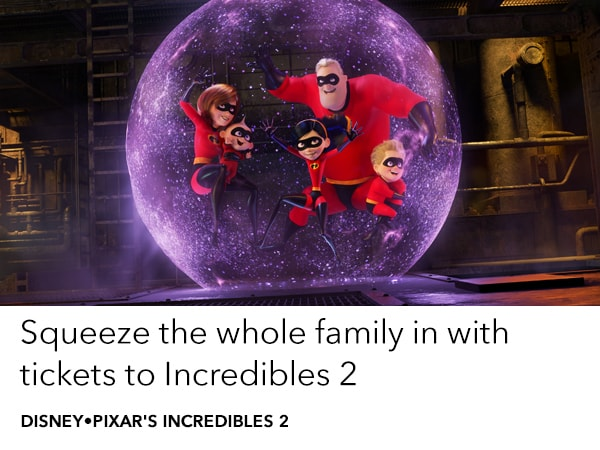 Get tickets to Incredibles 2 in cinemas 14 June