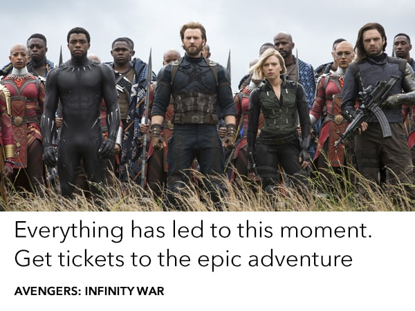 Buy Tickets to Avengers: Infinity War