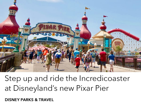 Plan a holiday to Disney California Adventure Park to visit Pixar Pier