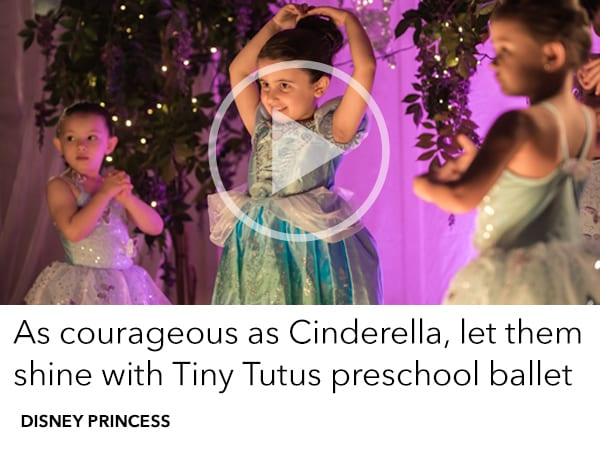 They'll waltz until the clock strikes midnight, just like Cinderella, with Tiny Tutus Preschool Ballet