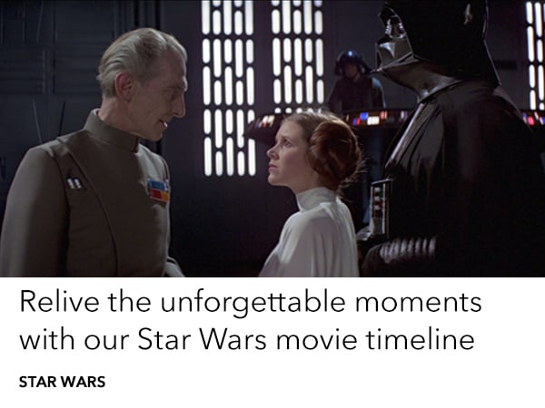 Read our timeline of every Star Wars movie in order of release