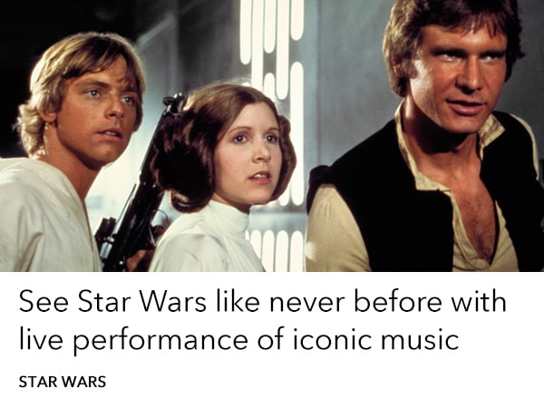 Star Wars - Film Concert Series - Homepage Trending Slider - AU