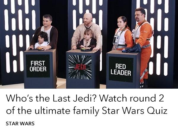 Star Wars - Ultimate Family Quiz - Round 2 - Trending Slider - Homepage AU