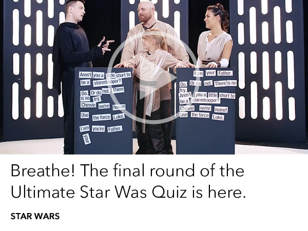 Star Wars Ultimate Family Quiz - Final Round