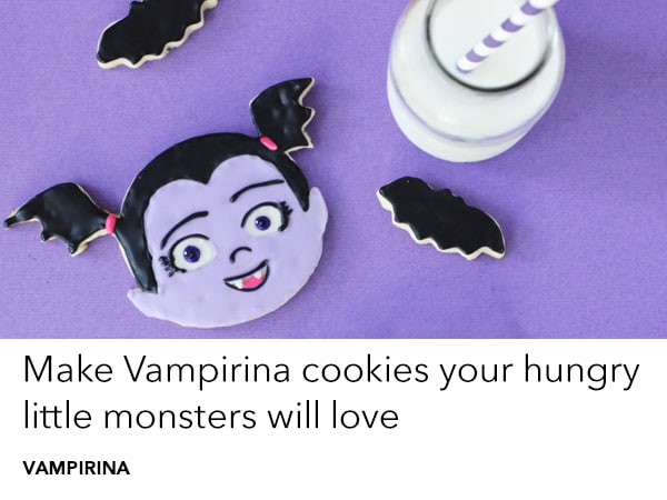 Make these Vampirina cookies