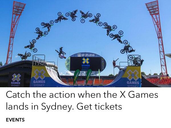 X Games land in Sydney Oct 19-21. Get tickets