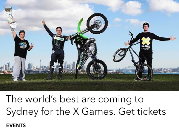 X Games land in Sydney Oct 19-21. Get tickets