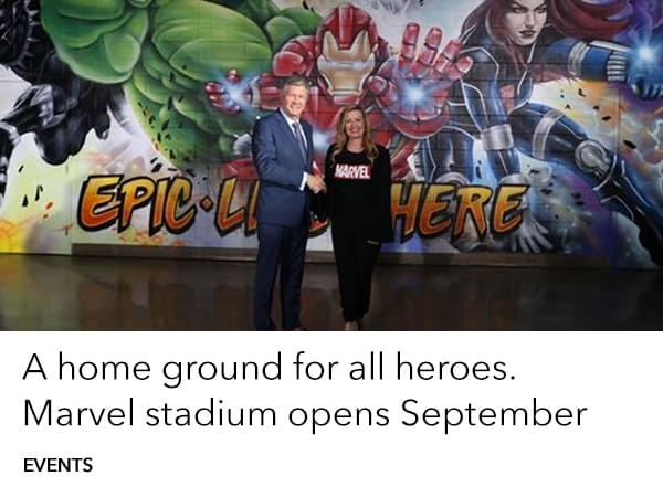 Marvel Stadium is coming. A home ground for all heroes