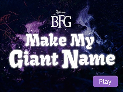The BFG: Make My Giant Name