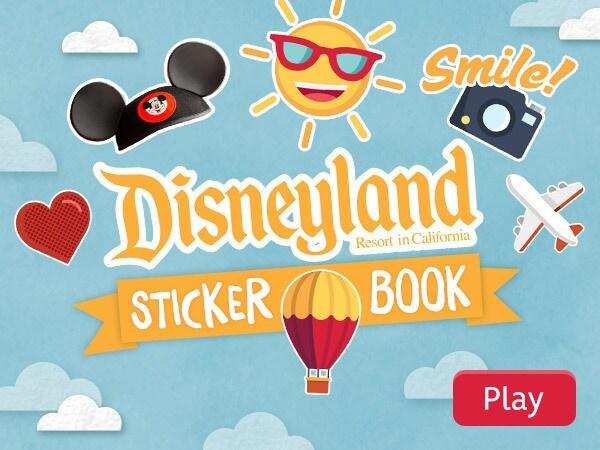 Disneyland Resort Sticker Book