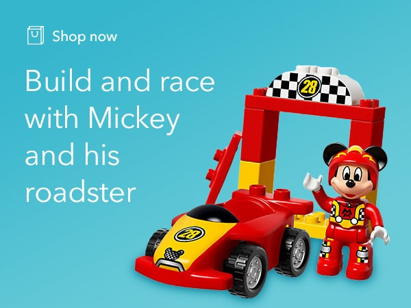 Mickey - LEGO DUPLO - Roadster Racers - Game tile - Retailer Link - Shop - AU